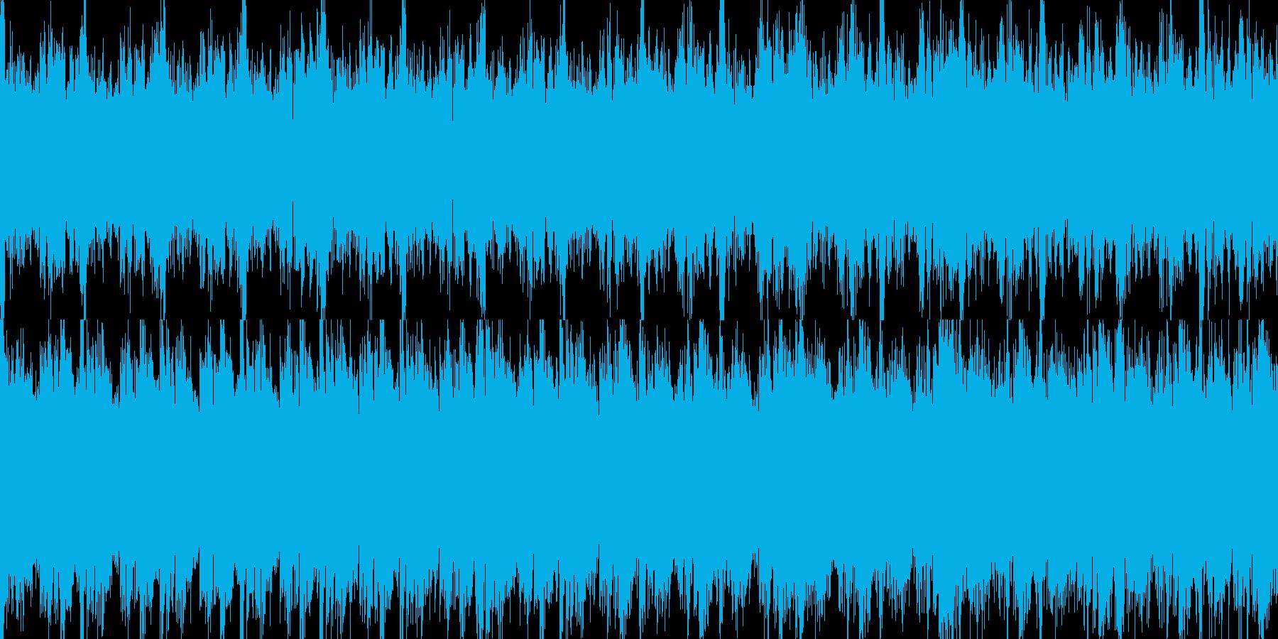 生きるか死ぬかの必死の逃亡・脱出のBGMの再生済みの波形