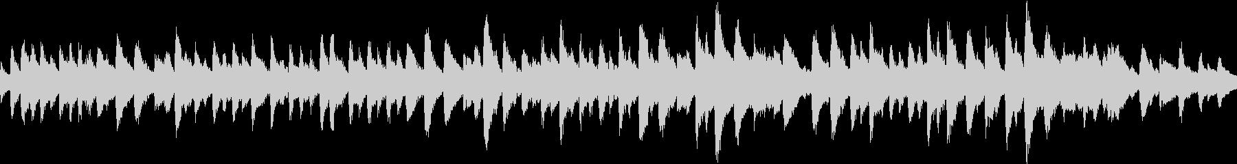 ピアノ独奏のバラードの未再生の波形