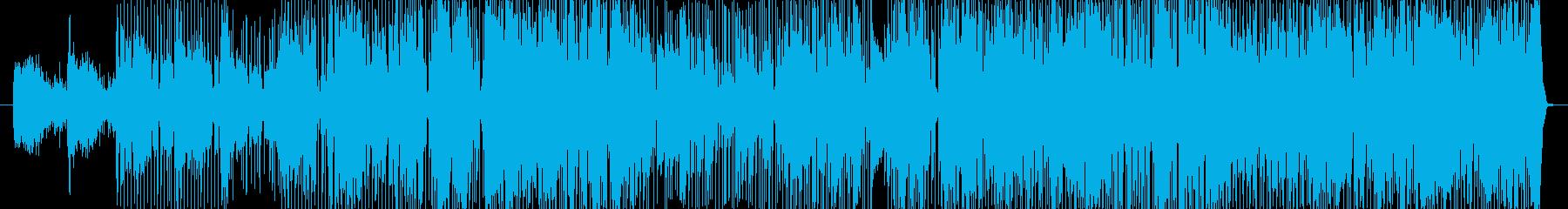 ポップスでバラードな曲の再生済みの波形