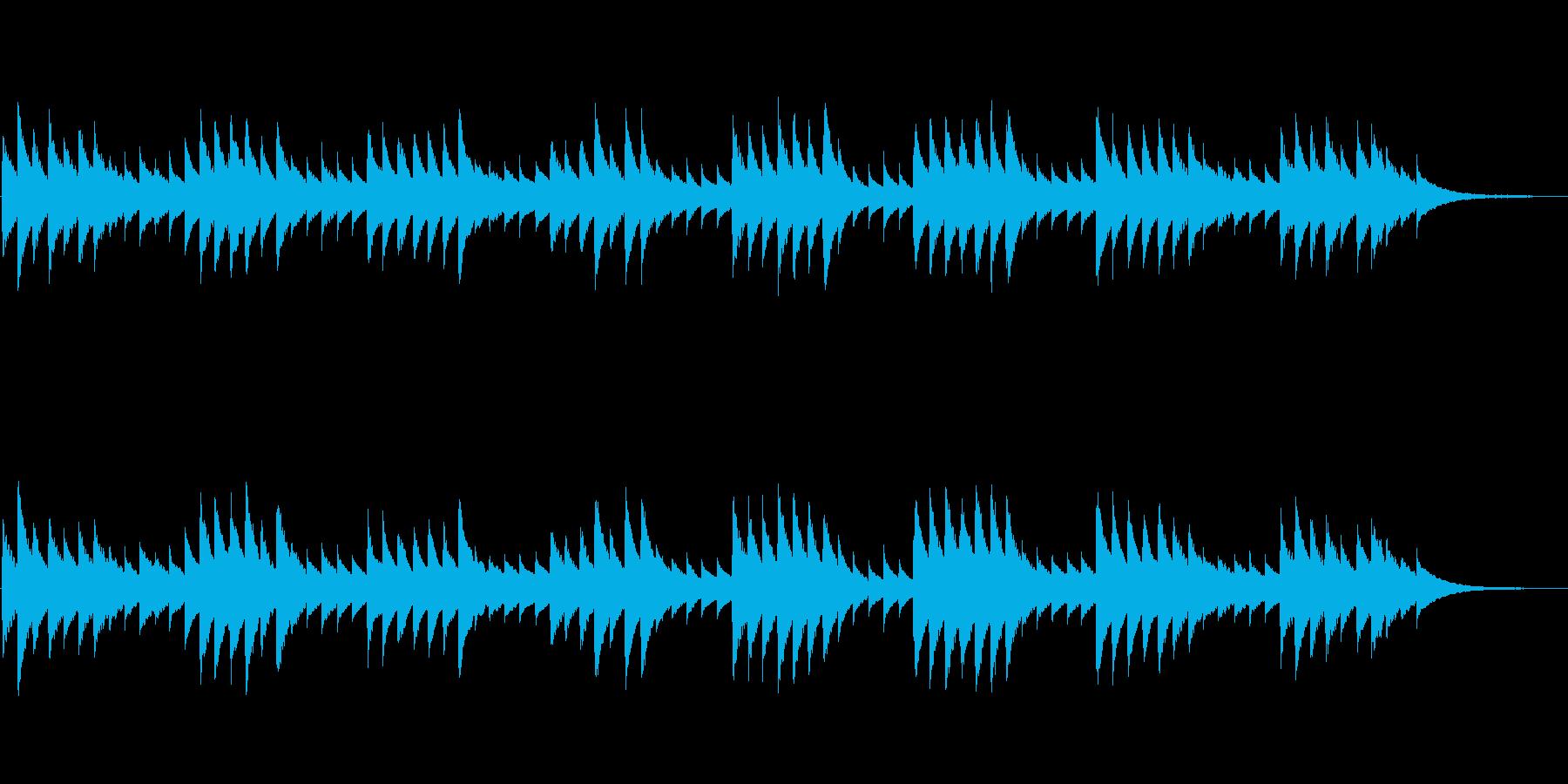 モーツァルトの子守唄(オルゴール)の再生済みの波形