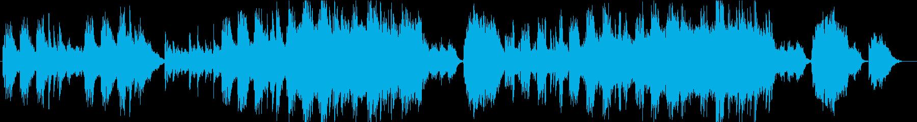 静かで叙情的なクラシック風ワルツの再生済みの波形
