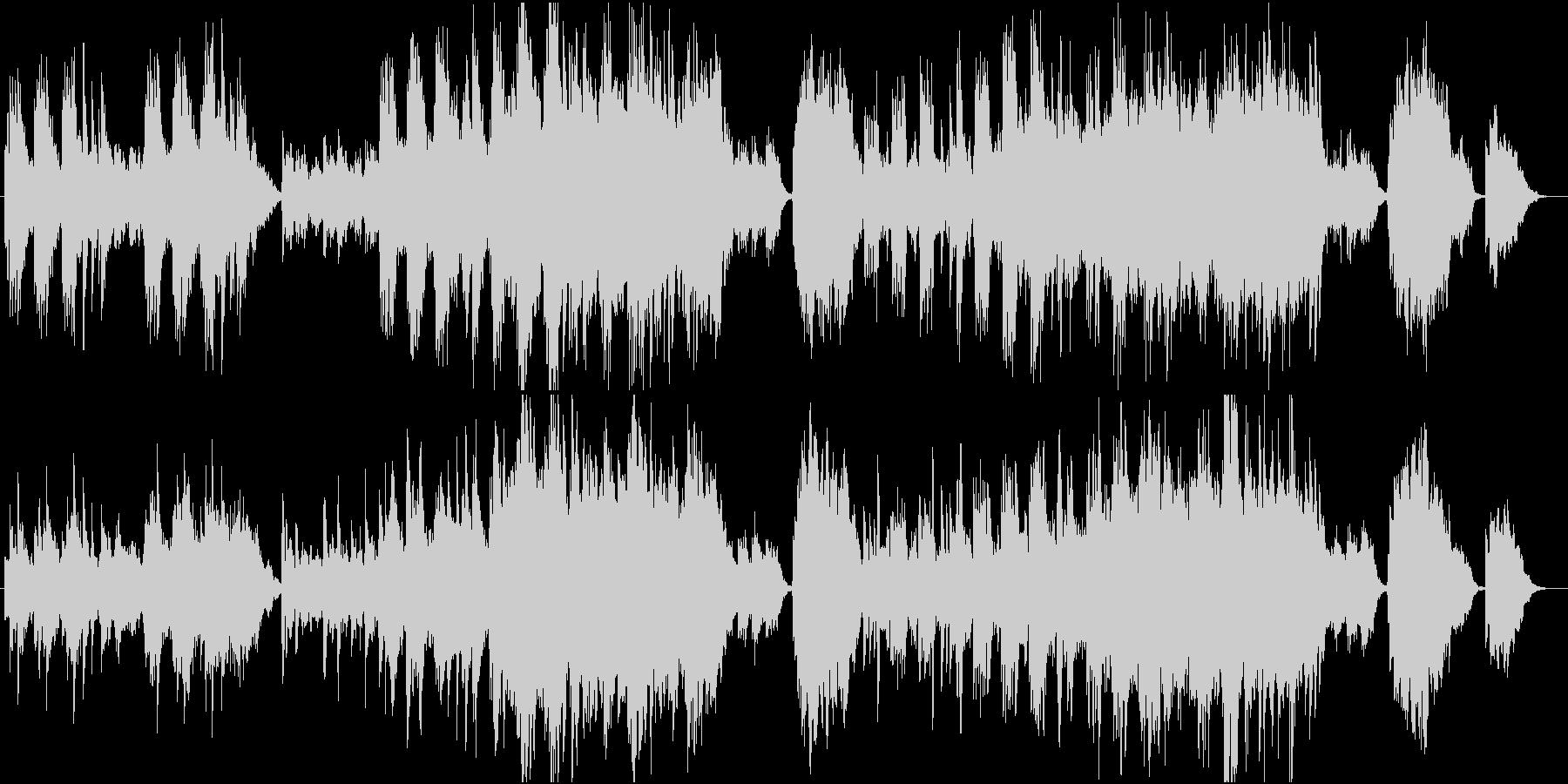 静かで叙情的なクラシック風ワルツの未再生の波形