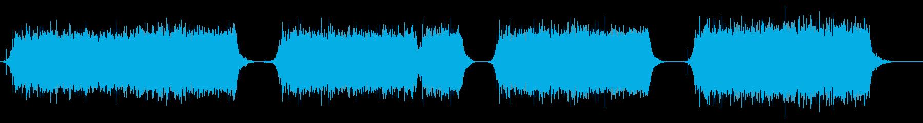 ドライヤーの音の再生済みの波形