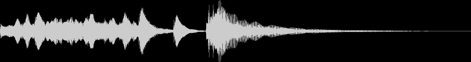 ほのぼの可愛い・ハープ/マリンバジングルの未再生の波形