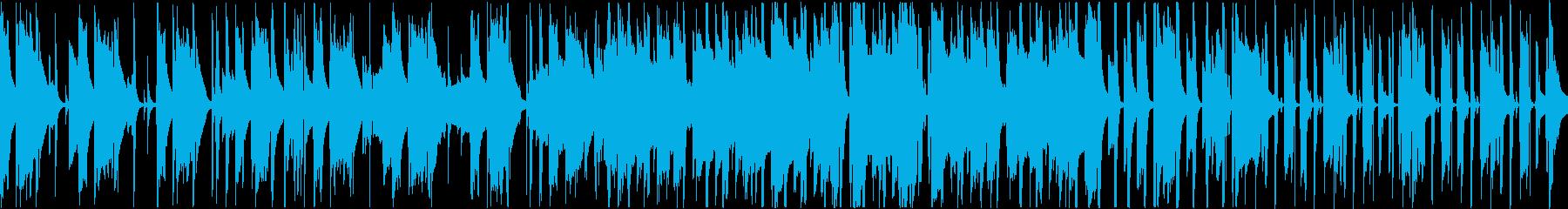 ちょっとコミカルな、ほのぼの系ポップスの再生済みの波形