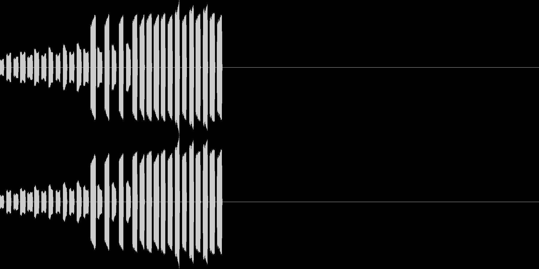 テレテレテレテレ・・・の未再生の波形