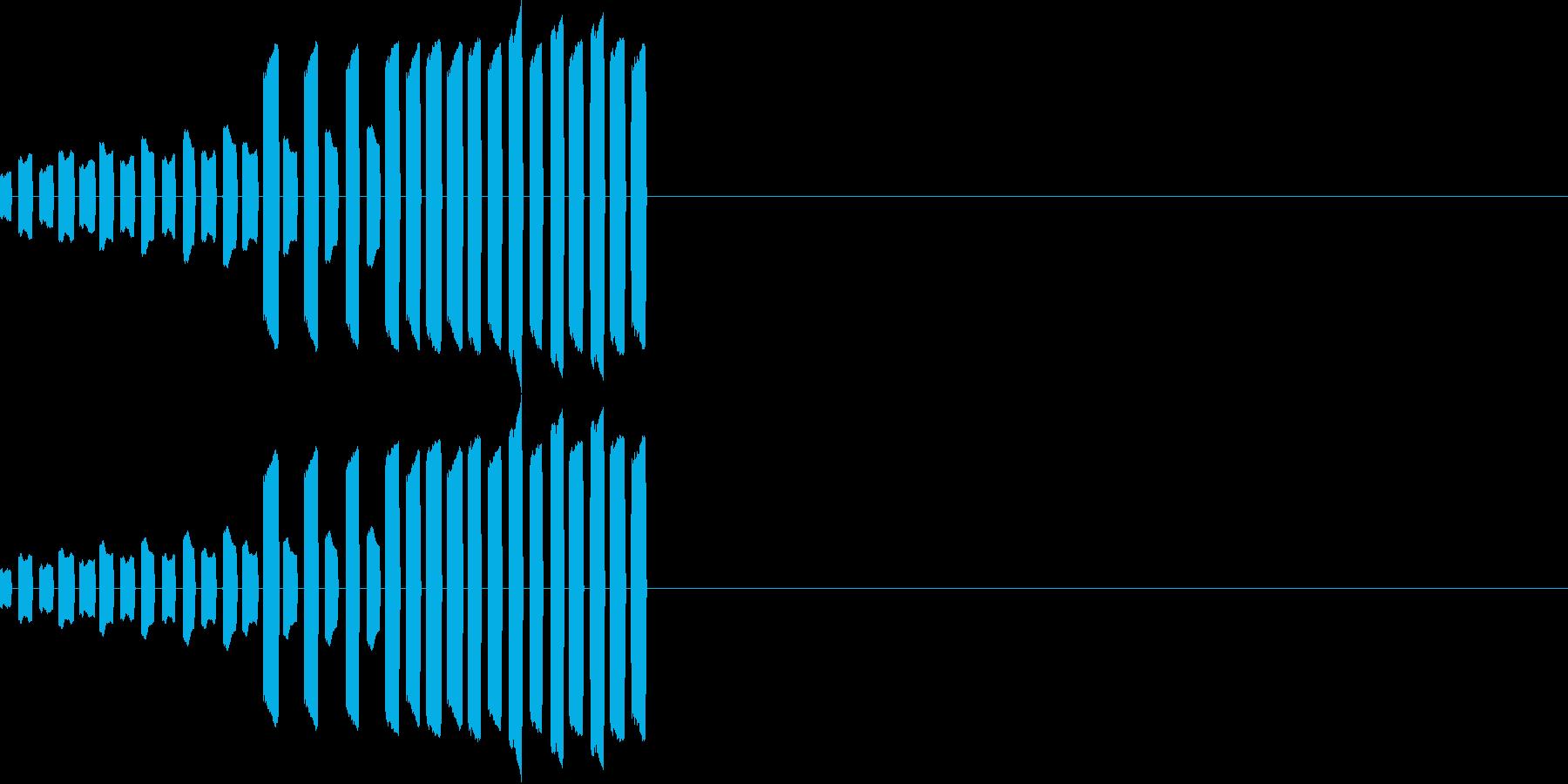 テレテレテレテレ・・・の再生済みの波形