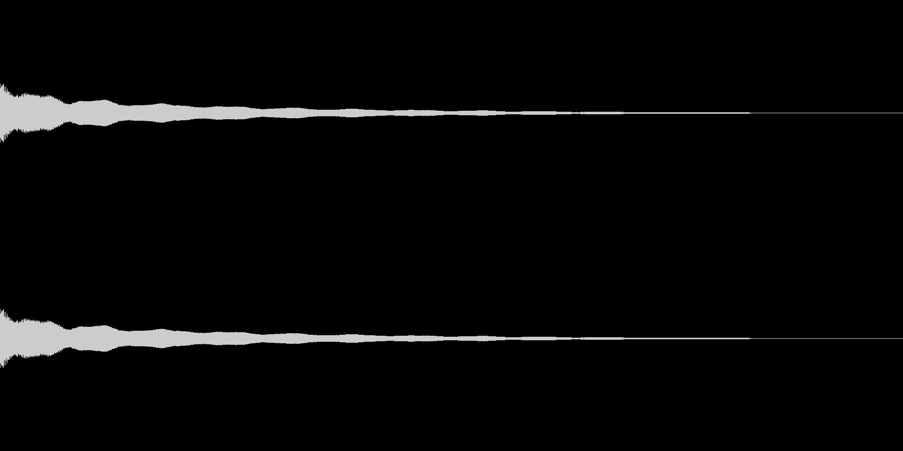 チーン_仏壇の鐘の音の未再生の波形