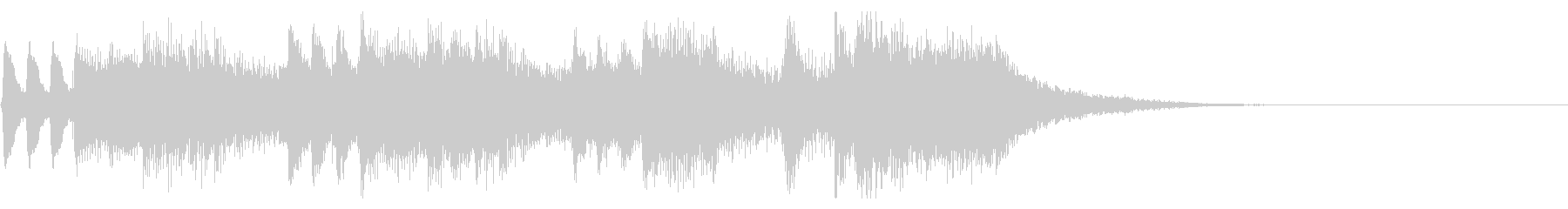 パパパパパーン(結婚式風ファンファーレ)の未再生の波形