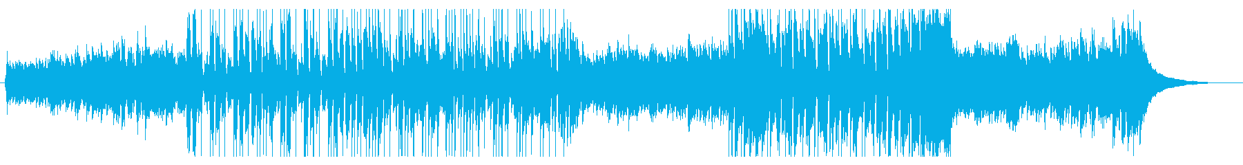ホーンセクション入りのポップスの再生済みの波形