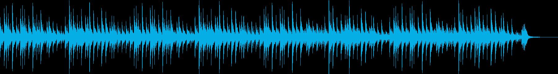 童謡「春が来た」のオルゴールバージョンの再生済みの波形