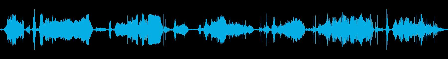 ハイエナ死ぬあえぎと呼吸の再生済みの波形