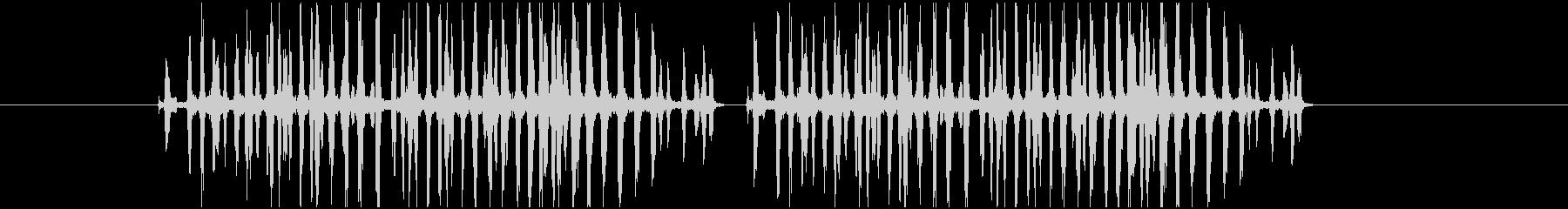 文鳥が怒っている鳴き声の音の未再生の波形