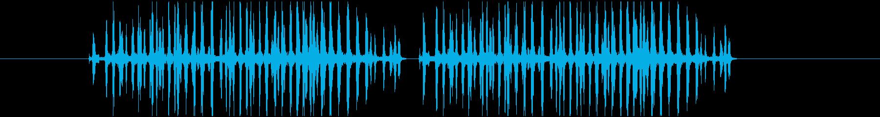 文鳥が怒っている鳴き声の音の再生済みの波形