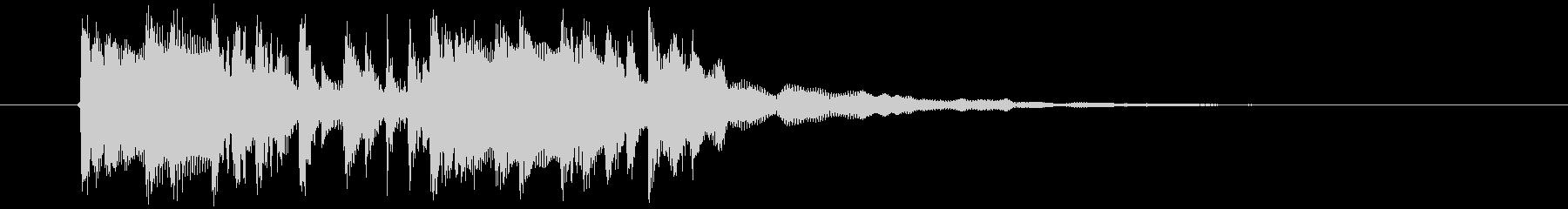 近未来的なテクノミュージックの未再生の波形