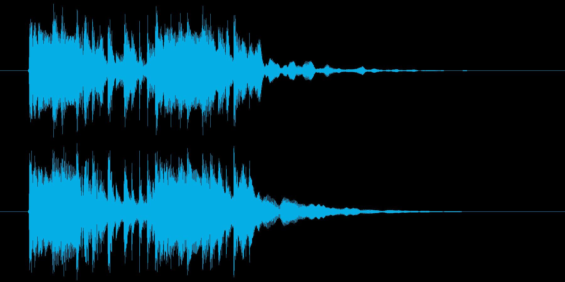 近未来的なテクノミュージックの再生済みの波形
