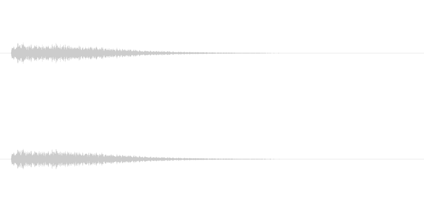 【ショートブリッジ30-2】の未再生の波形