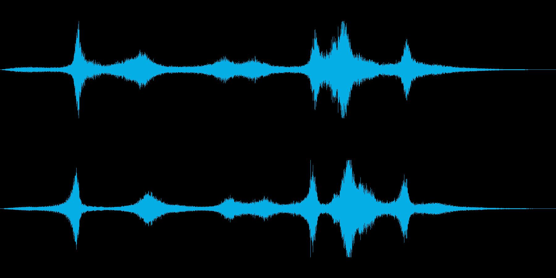 【生録音】 早朝の街 交通 環境音 12の再生済みの波形