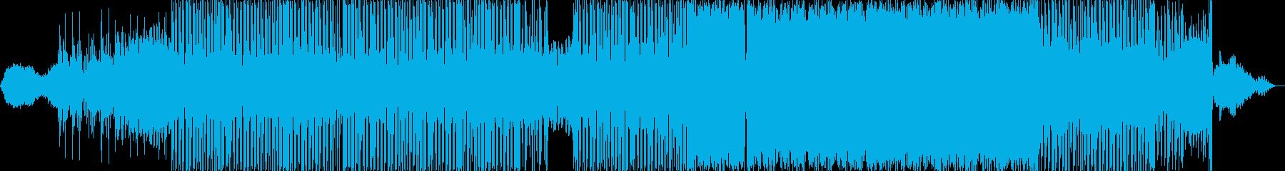 怪しげな雰囲気のブレイクビーツの再生済みの波形