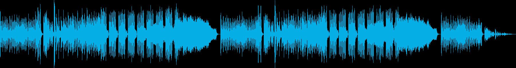 レトロゲーム風BGM(ダンジョン、緊迫)の再生済みの波形