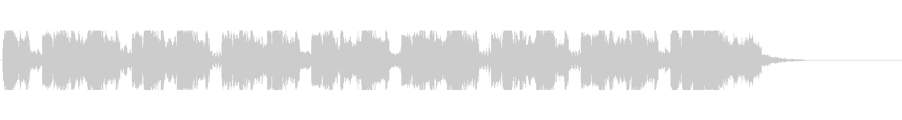 未来的HipHopバトル系ジングルの未再生の波形