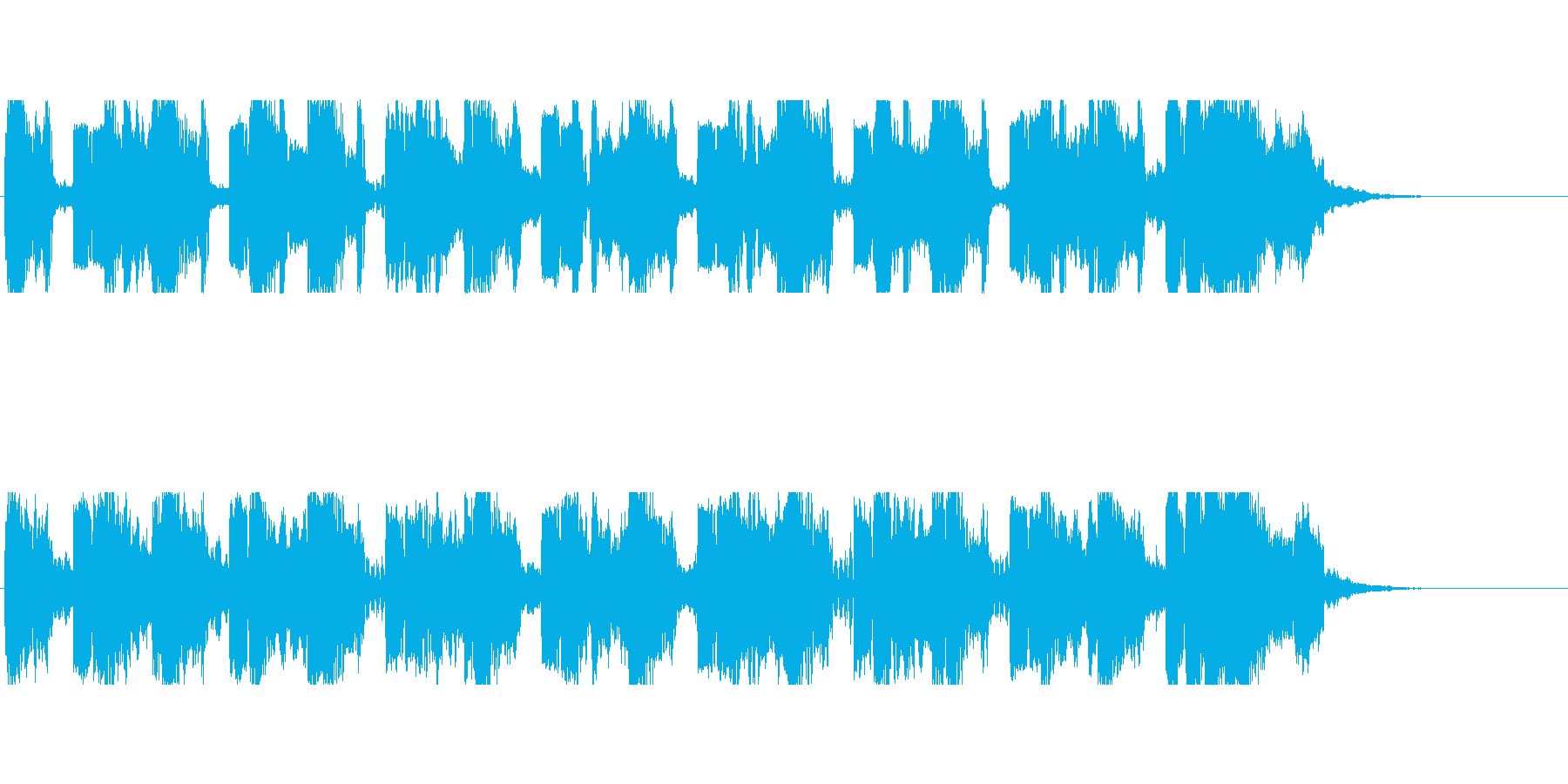 未来的HipHopバトル系ジングルの再生済みの波形