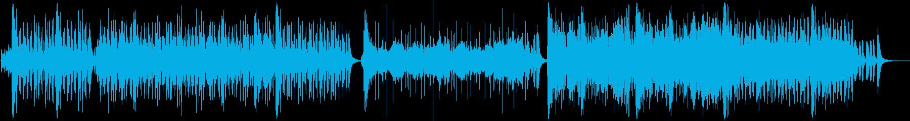 爽やかなフルートが印象的なBGMの再生済みの波形