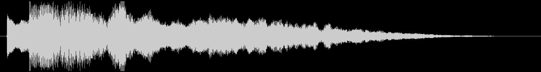 神秘的で透明感のあるアクセント音4の未再生の波形