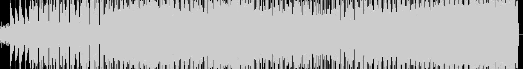 和のメロディを取り入れた縦ノリのEDMの未再生の波形