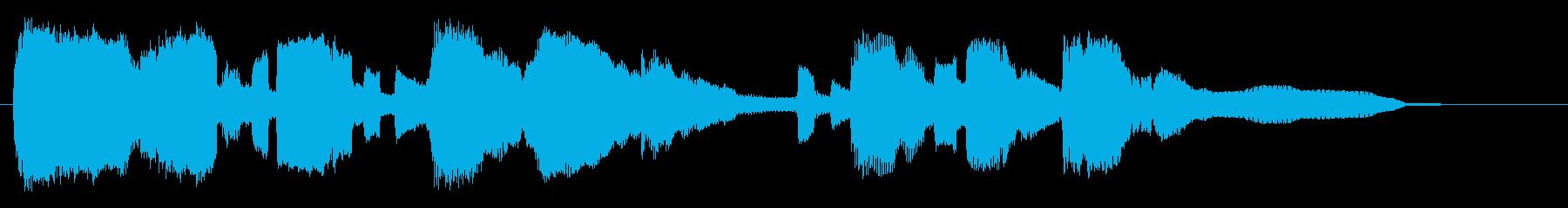 官能的なサックスの15秒ジングル、CMにの再生済みの波形