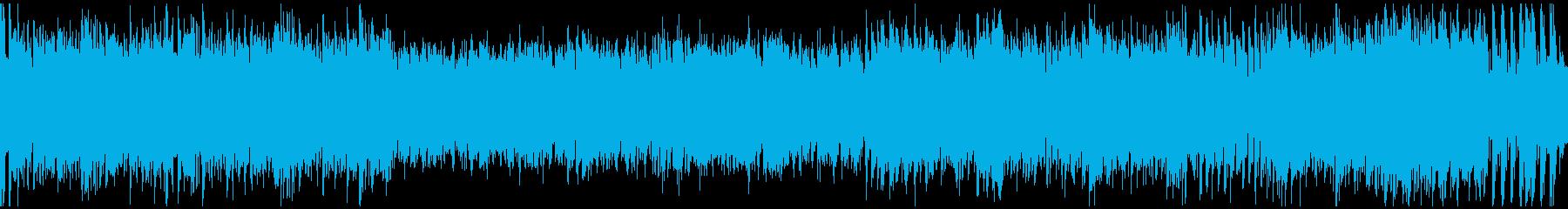 草原を駆け抜ける戦闘曲(ループ)の再生済みの波形