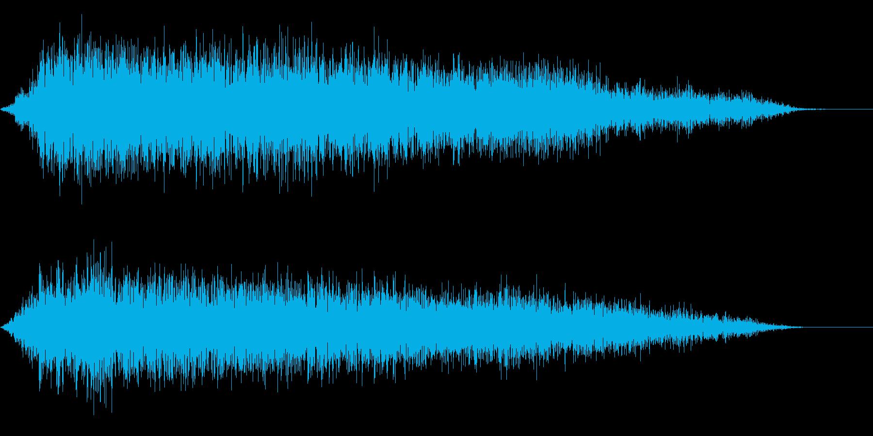 兵士の出陣の閧の声の再生済みの波形
