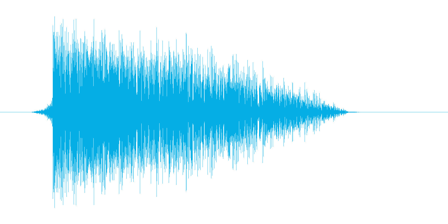 ゲーム(ファミコン風)爆発音_046の再生済みの波形