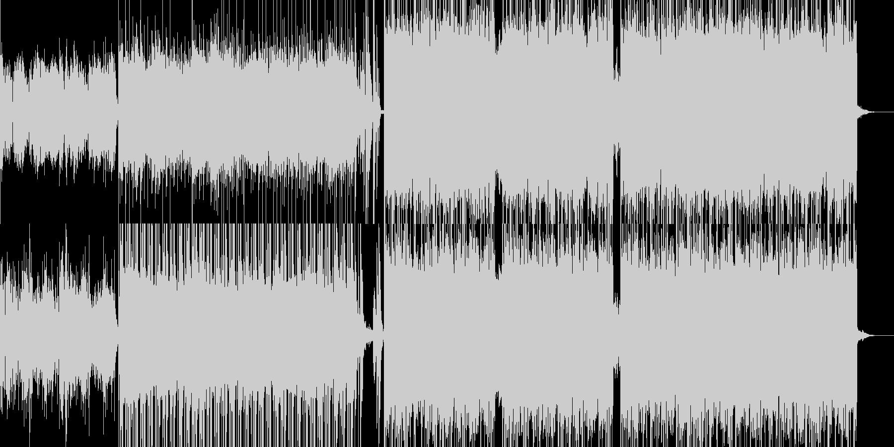 入場オープニングにエスニック風デジロックの未再生の波形