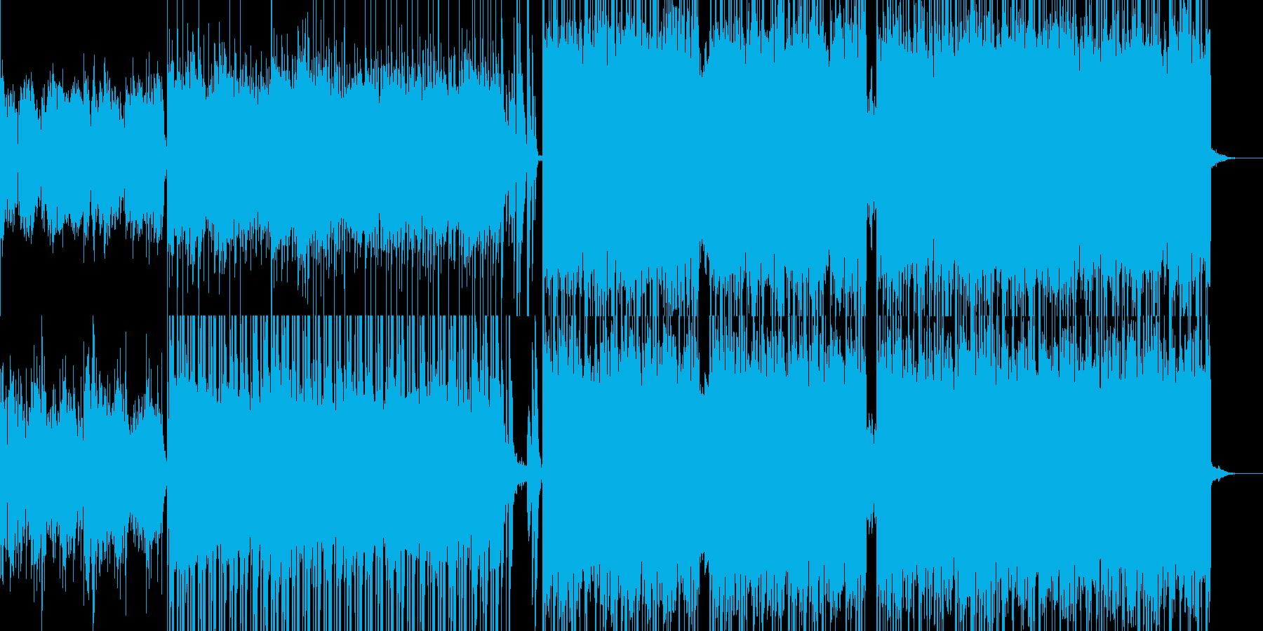 入場オープニングにエスニック風デジロックの再生済みの波形