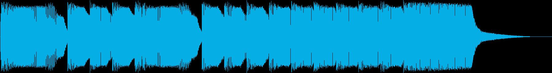 レトロゲーム ラウンドクリアー風ジングルの再生済みの波形