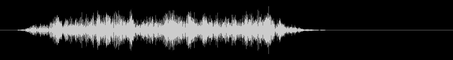 キキ(弦を擦ったような音)の未再生の波形
