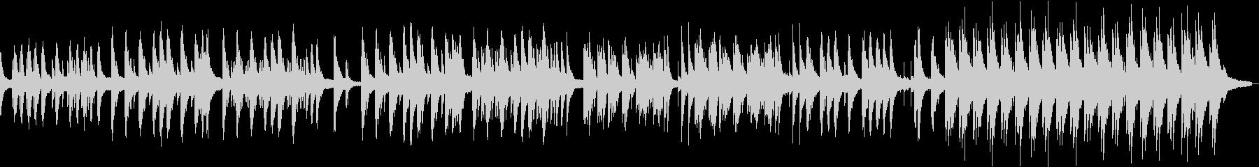 ピアノソロの切ないバラードのBGMの未再生の波形
