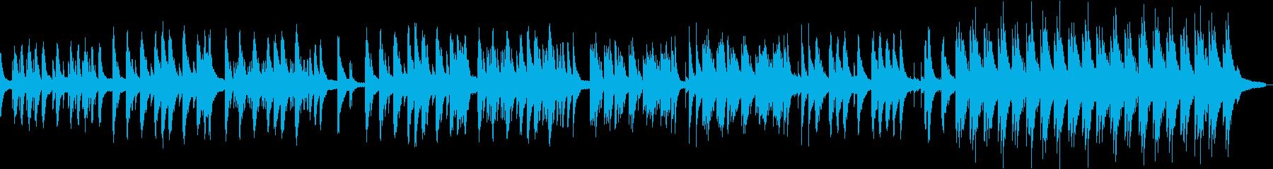 ピアノソロの切ないバラードのBGMの再生済みの波形