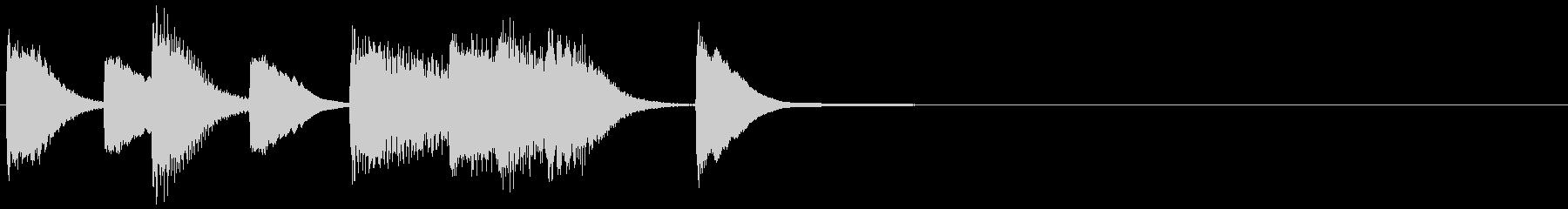 ピアノ ジングル01 プレーンの未再生の波形