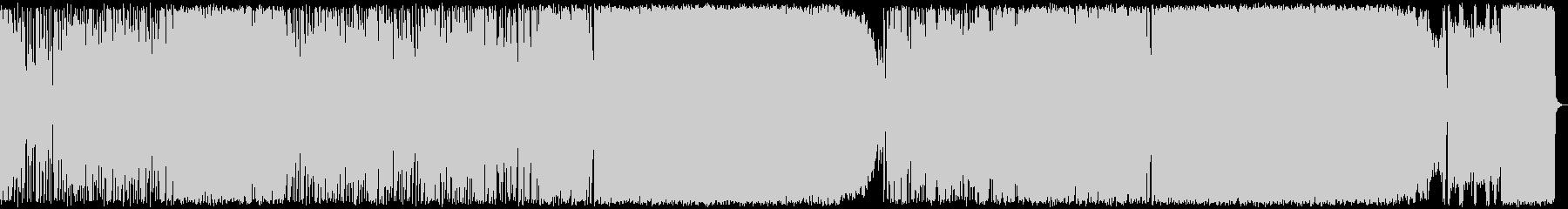 ファンク、ラウド系ロック、癖ありな展開の未再生の波形