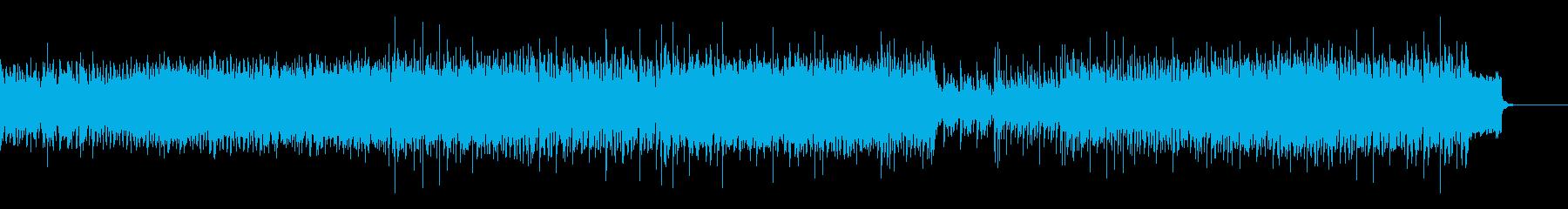 怪しげな重低音EDMの再生済みの波形