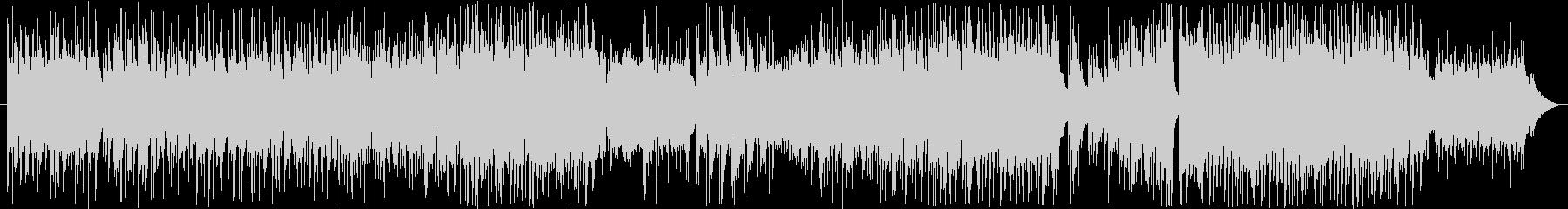 拍子が変化していく、シリアスな曲の未再生の波形