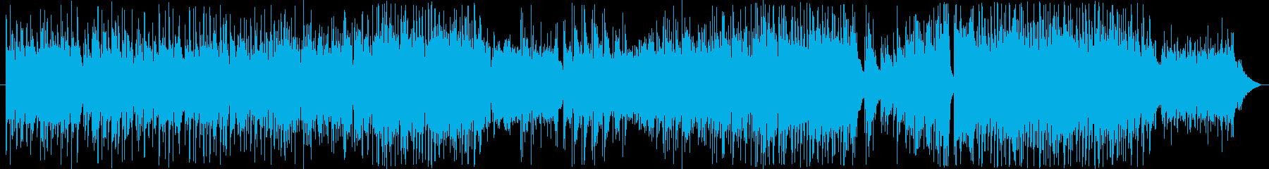 拍子が変化していく、シリアスな曲の再生済みの波形