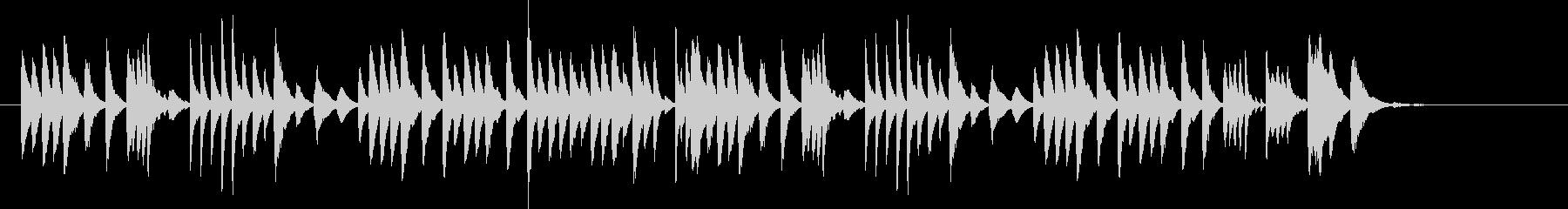 チャイコフスキー葦笛の踊りをマリンバでの未再生の波形