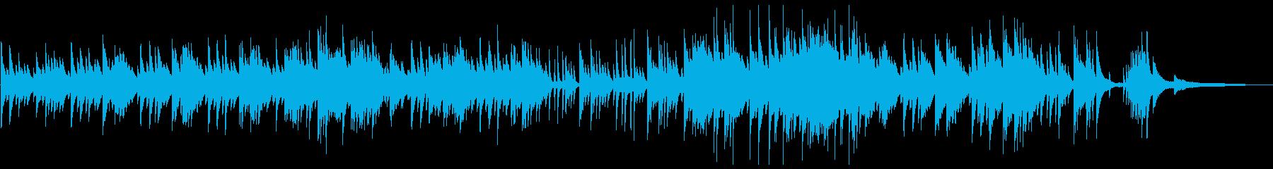 感動的でノスタルジックなピアノソロの再生済みの波形
