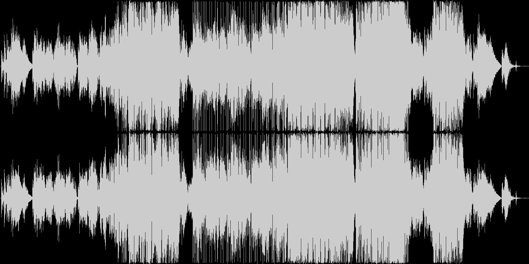エンディングを思わせる優しいバラードの未再生の波形