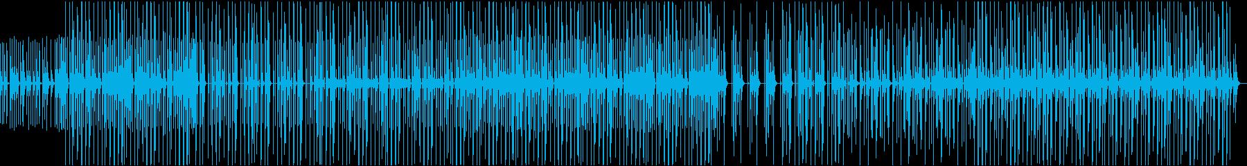 雨がポツンポツンと降るような可愛らしい曲の再生済みの波形