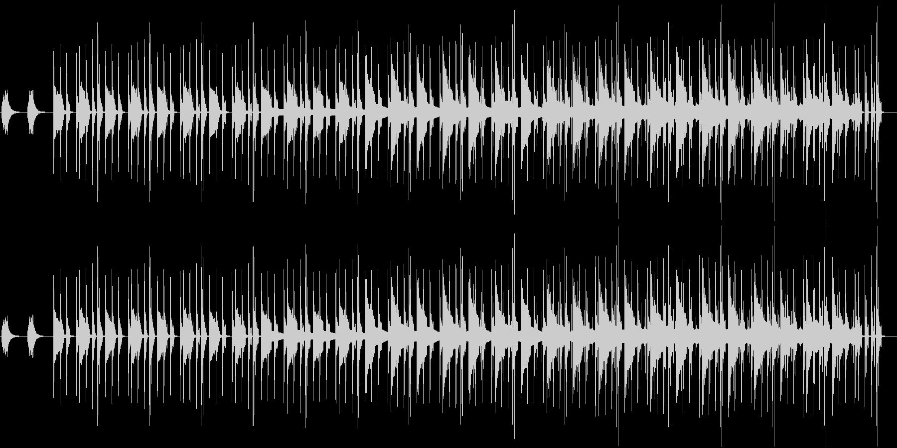 同じフレーズが繰り返される無機質な曲の未再生の波形