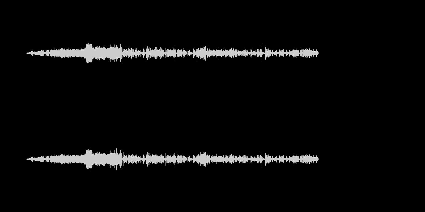 ノイズ(電気)の音の未再生の波形
